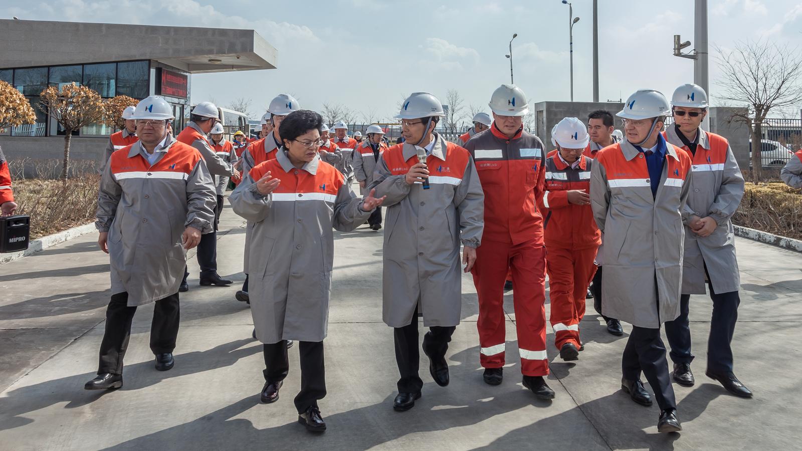 自治区主席刘慧一行调研亚博体育app官方下载苹果版LNG工厂
